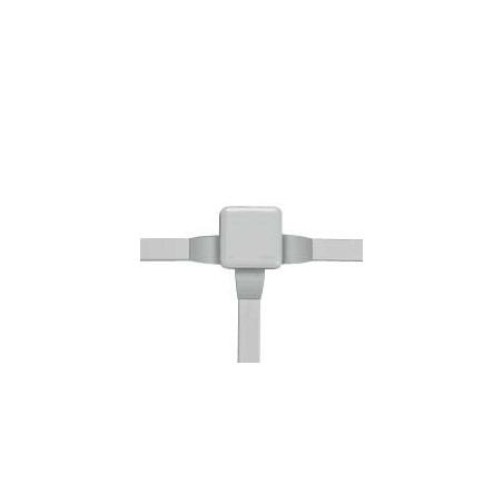 LEGRAND - BOITE CARRÉE 80X80X45 ÉTANCHE PLEXO GRIS - EMBOUT (7) -IP55/IK07- 650°C