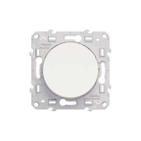 Schneider Electric - Poussoir Odace - Va et vient - 10 A - Blanc