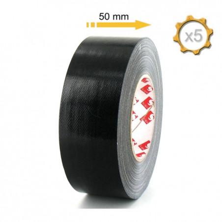 RUBAN TOILE ADHESIVE PLASTIFIEE 50MMX3M - NOIR