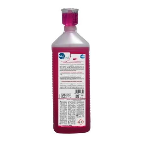 Poltech - Nettoyant détartrant pour sol et surfaces 4D - 1L