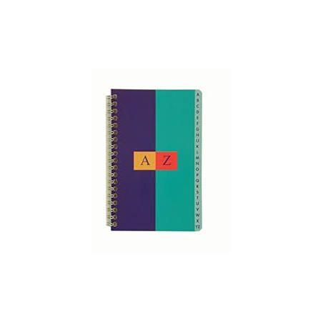 Carnet répertoire alphabétique - Lettre unique - 11 x 17 cm