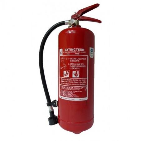 Extincteur eau pulvérisée 6L-Classe de feu ABE-Pression permanente