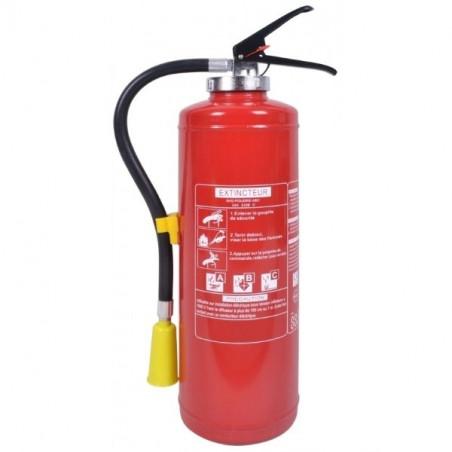 Extincteur poudre polyvalente 6kg-Classe de feu ABCE-Pression auxilaire